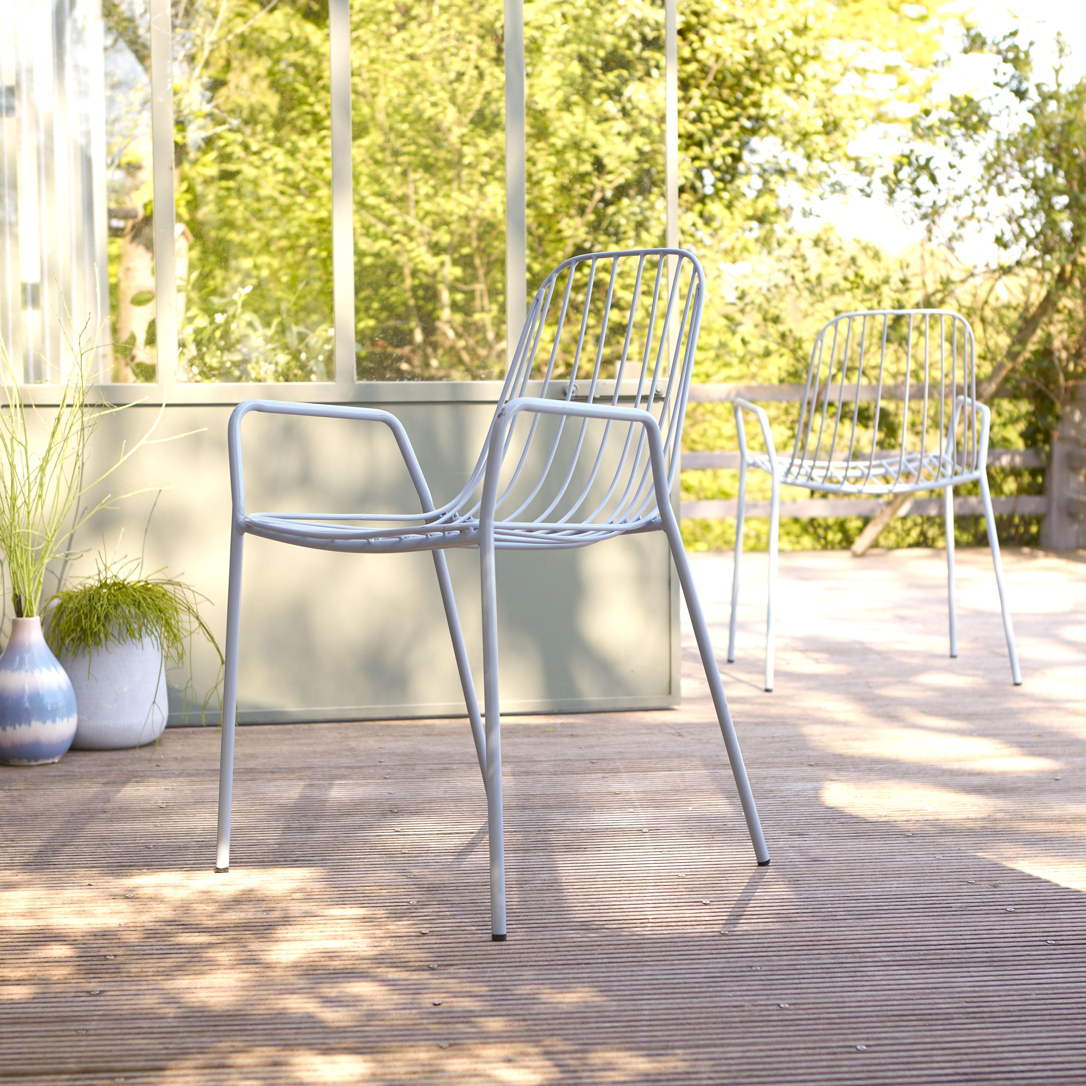 Fauteuil De Jardin En Ma C Tal Gris Meubles Pour L Exta C Rieur Chaise Jardin Metal Chaise De Jardin Chaise D Exterieur