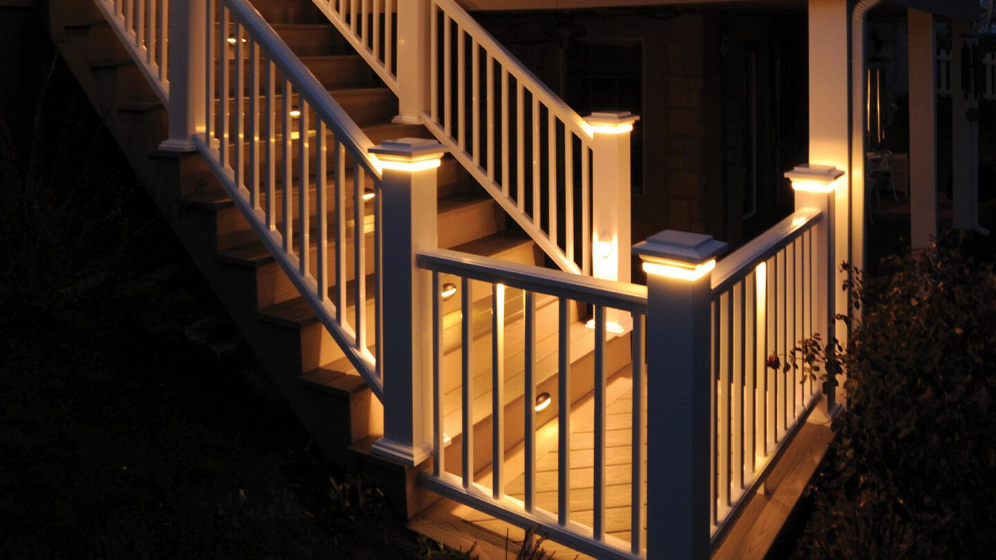 Azek Under Rail Light For The Home Deck Lighting