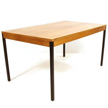 ausziehbarer wohnhilfe-tisch aus nussbaumfurnier l. 140-200 cm, Esstisch ideennn