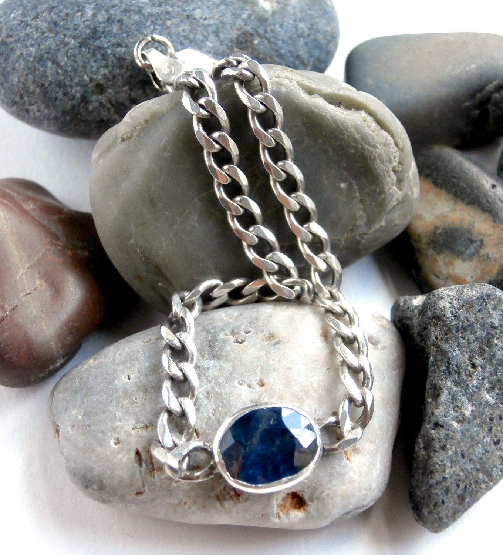 Sterling Gemstone Bracelet - 925 Sterling Silver by ReTainReUse on Etsy