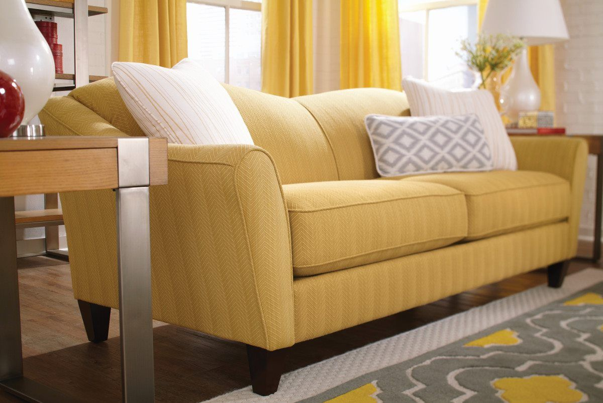 Living Room:Bright Living Room Decor With Yellow Couch As Well As White  Pillow And Desk Lamp Bright Living Room Decor With Stunning Yellow Couch