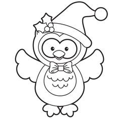 Holiday Owl Coloring Page Free Christmas Recipes Coloring Pages For Kids Santa Letters Free N Owl Coloring Pages Coloring Pages For Kids Christmas Owls