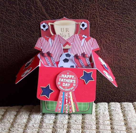 Sports Cards And Gifts For Men By Sarah On Etsy Pop Up Box Cards Cards Handmade Card Box