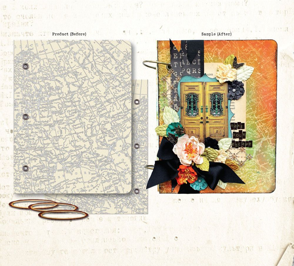 plastic tag mini album | Prima Mixed Media Albums & Covers - a sprinkle of imagination