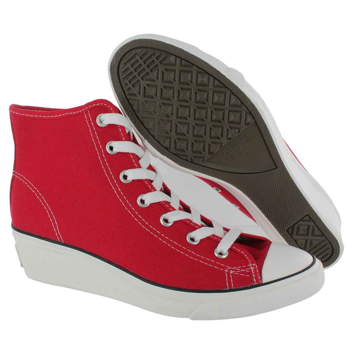 red converse wedges   Sneakers fashion