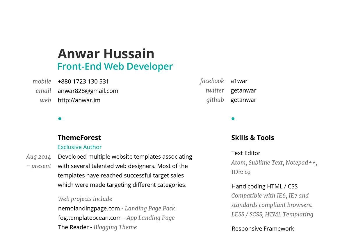 Pin On Simple Resume Templates