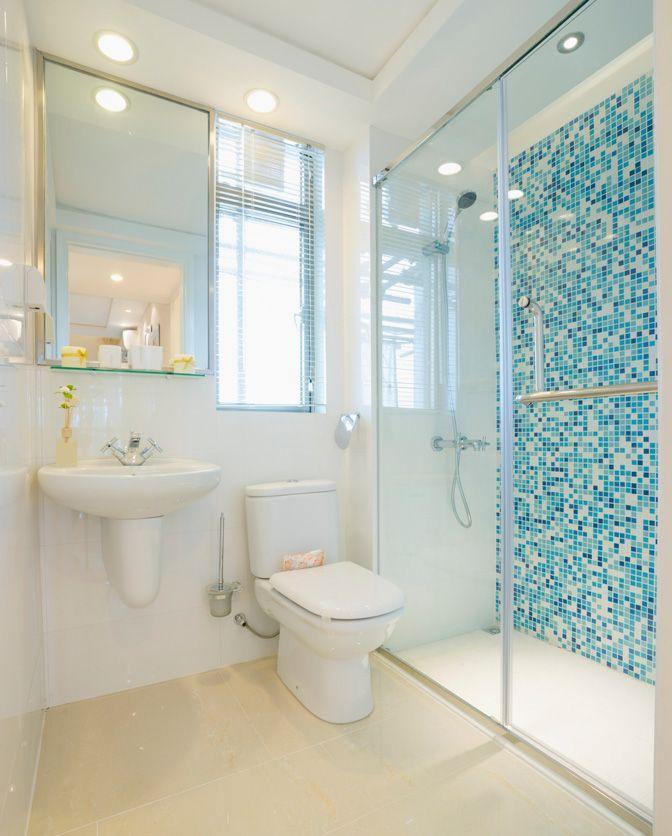 Como limpar piso de porcelanato Azul, Baños y Baño