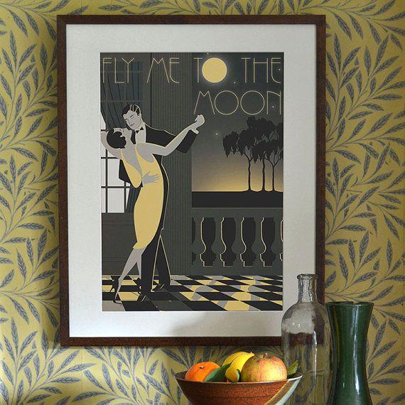 Original Design A3 A2 A1 Art Deco Bauhaus Poster Print Frank Sinatra