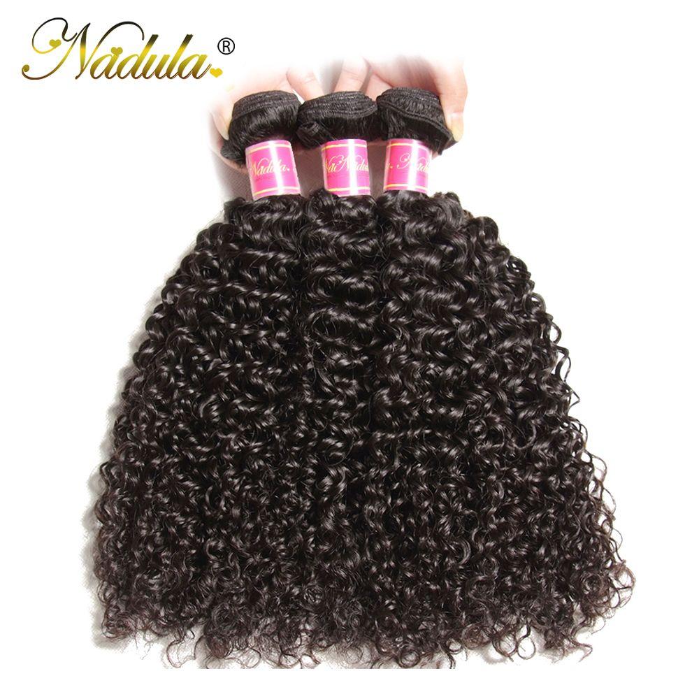 Nadula Hair 3PCS Brazilian Curly Hair Weaves 3 Bundles