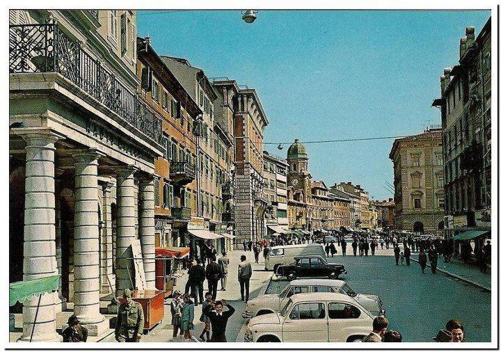 Rijeka Corso Kraj 1960 Tih Rijeka Croatia Trieste