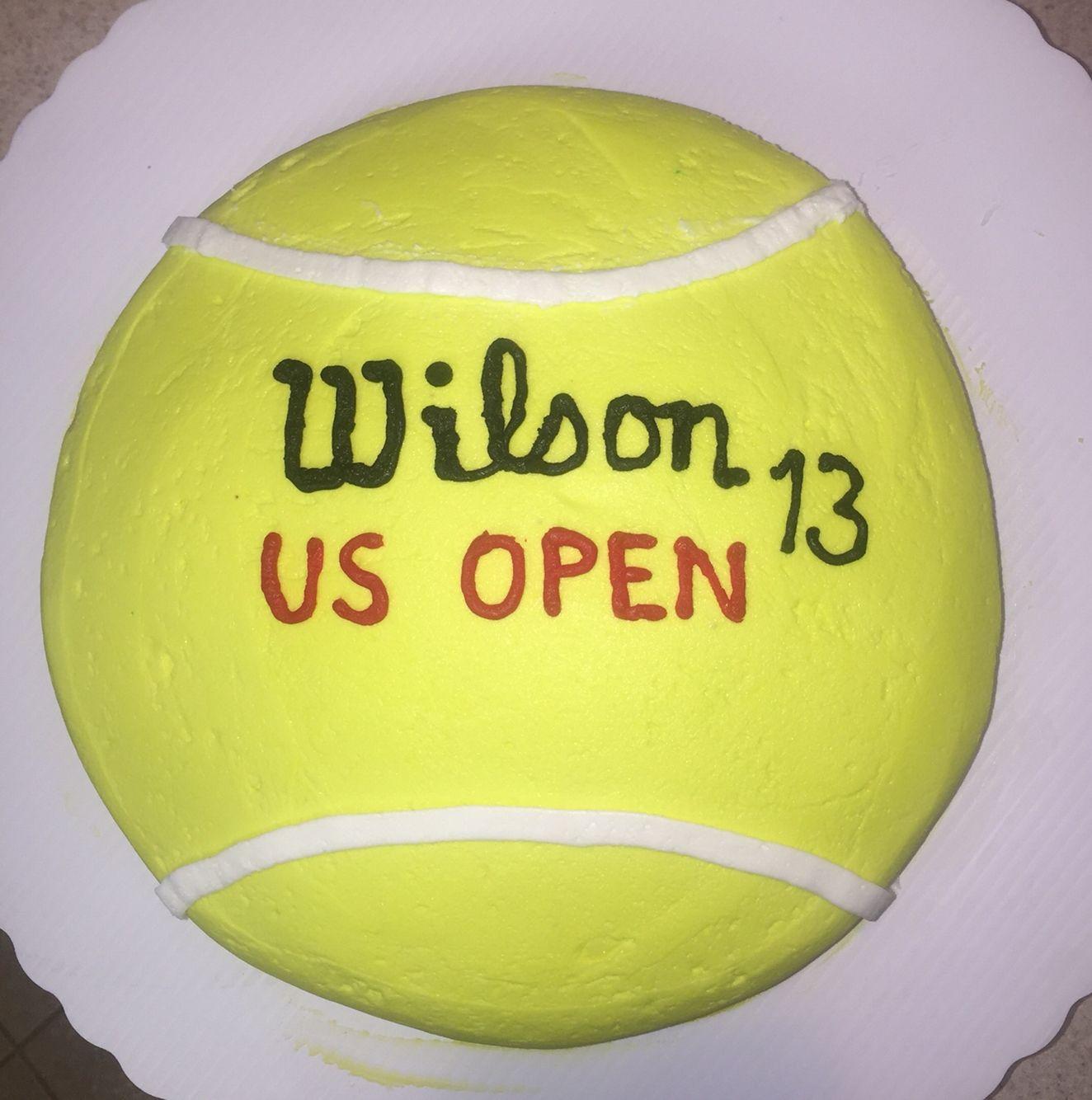 Simple Tennis Cake For My Son S 13th Birthday Kuchen Essen Rezepte