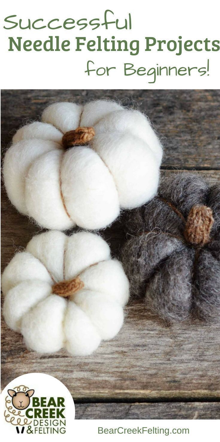 Successful Needle Felting Projects for Beginners #feltedwoolcrafts