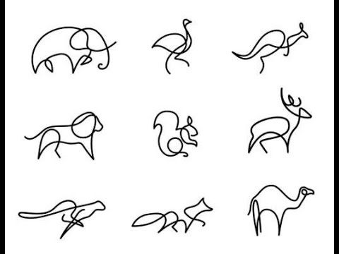 One Line Animal Painting Creative Ideas Dyi Animal Line Drawings One Line Animals Line Drawing