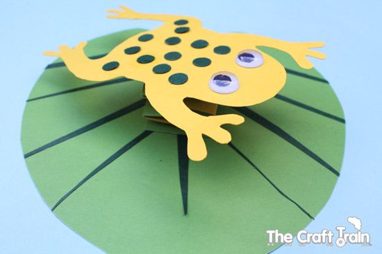 Frog on a Lily Pad | Frogs, Craft and Frog template