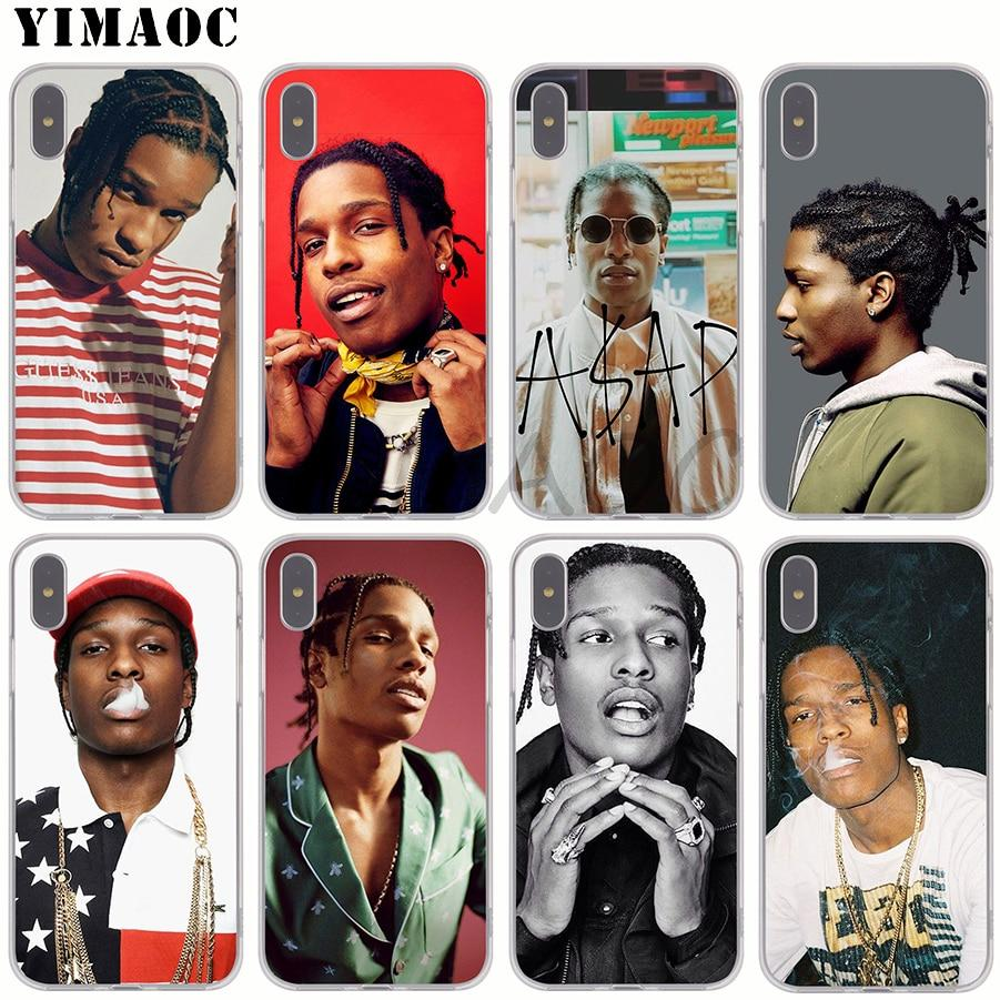 sports shoes 8910c 7b5ec YIMAOC Asap Rocky Soft Silicone Phone Case for Apple iPhone XS Max ...