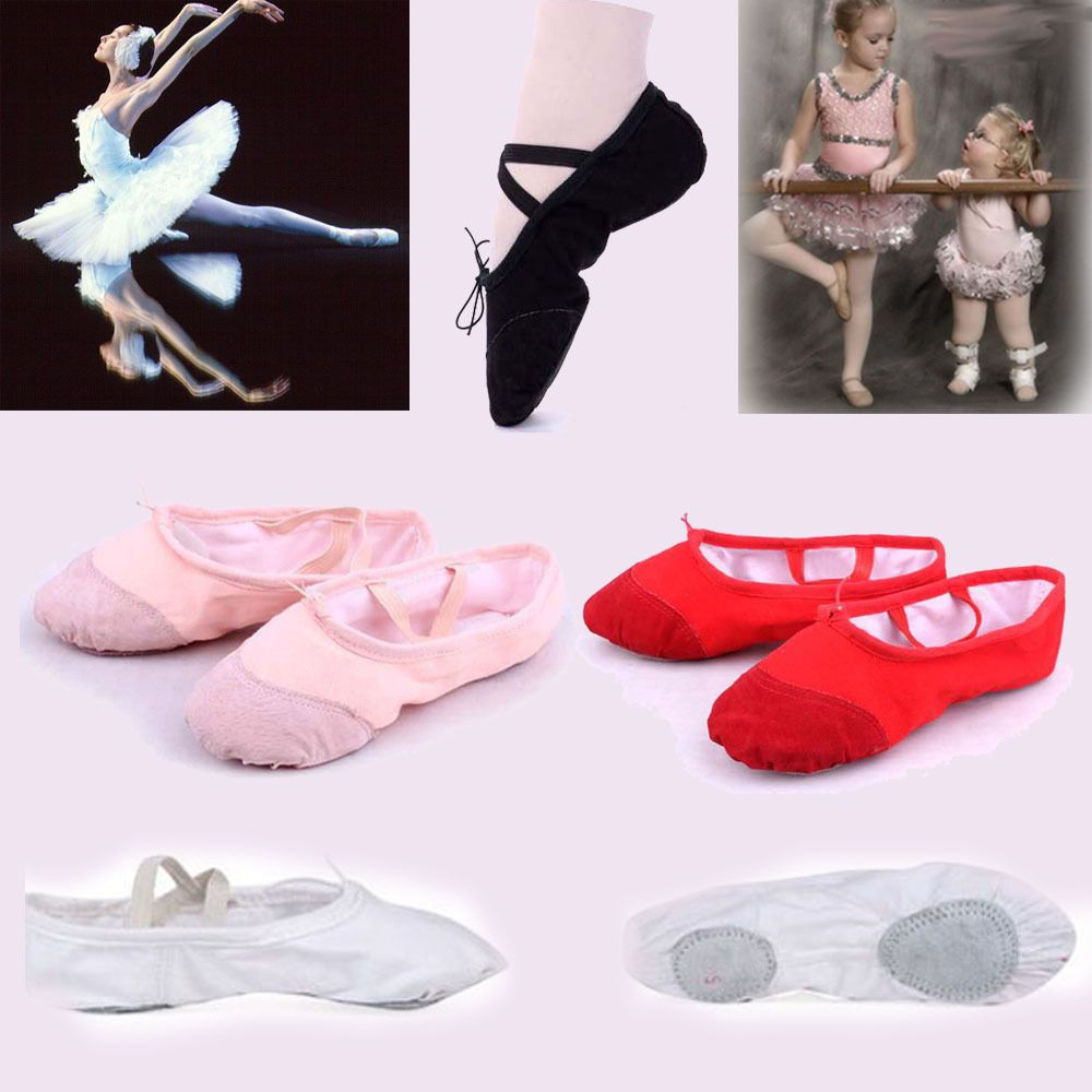 NEW Capezio Balera Pink Split Sole Leather Ballet Shoes Toddler Child or Adult
