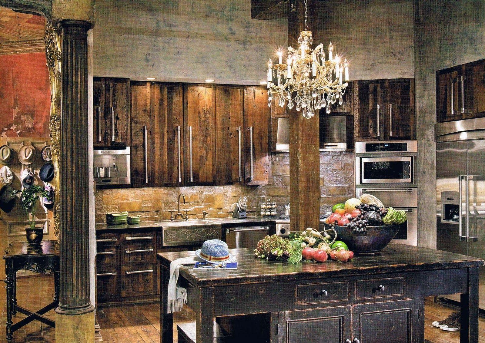 Modern Rustic. Gerard Butler's Home. Interior Design By