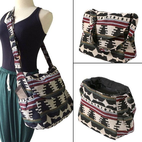 Hippie Hobo Messenger Bag Hmong Camera Purse Handbag Boho Thai Sling Canvas Cotton - IKM30 #camerapurse Hippie Hobo Messenger Bag Hmong Camera Purse by BenThaiProducts #camerapurse