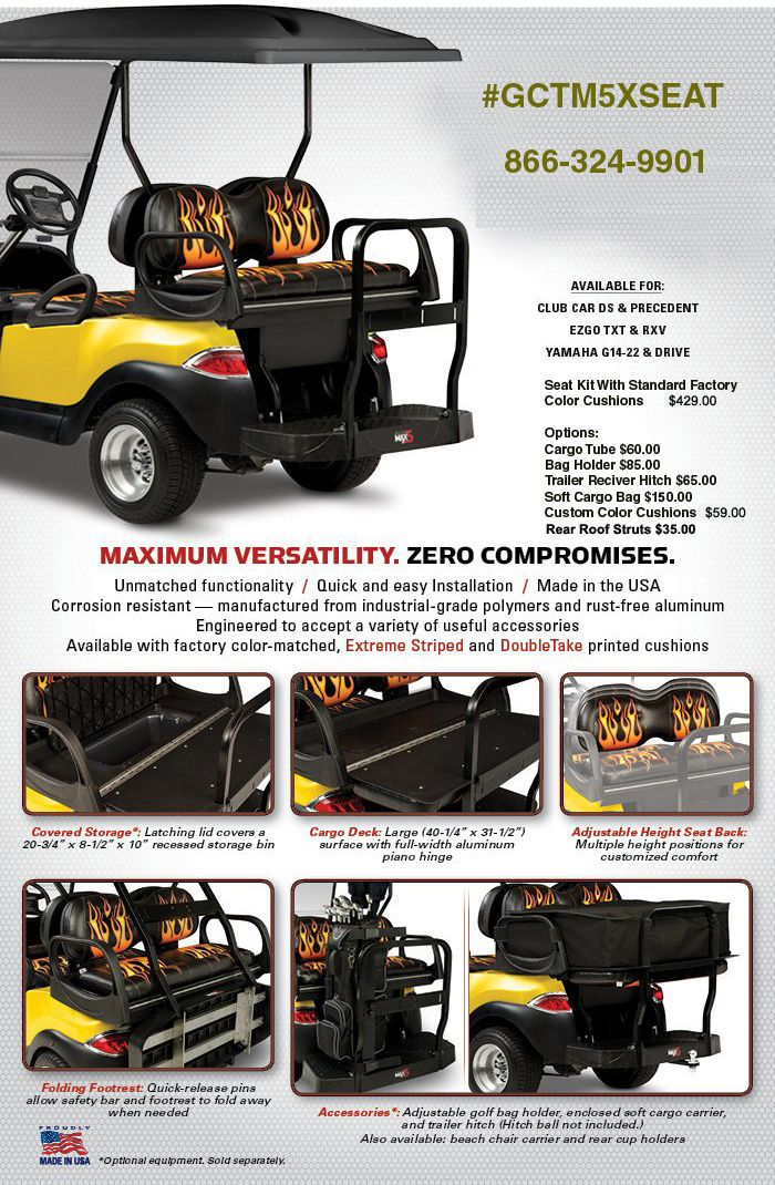 Rear Seat Kits 6 Golf Carts Yamaha Cart Bodies