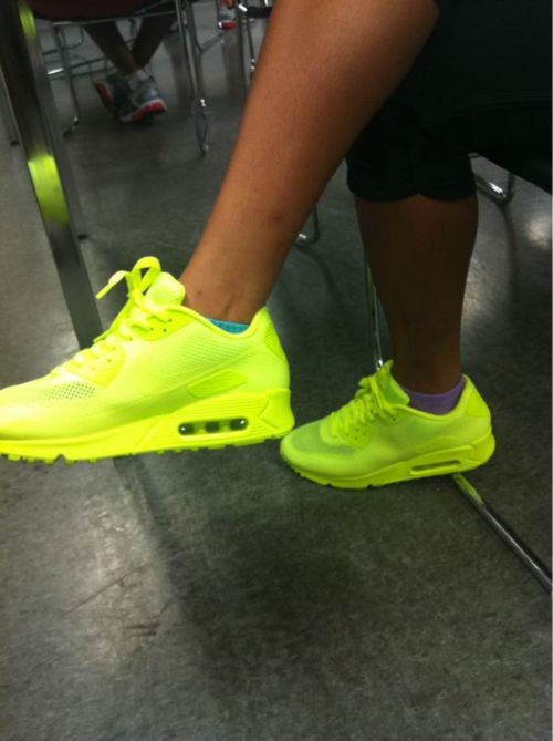 OMG! I want these neon yellow  Nike Air Max 90 Hyperfuse  shoes now ... b084fcba42