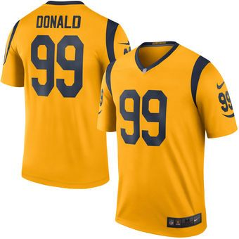 Nike Aaron Donald Los Angeles Rams Gold Color Rush Legend Jersey  rams   larams  nfl db8cbe0a5