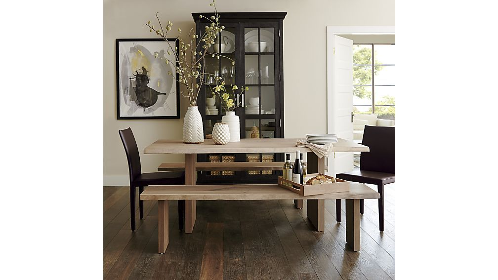 Dakota 77 Dining Table In Tables Crate And Barrel How It Would Look Against A Dark Wood Floor