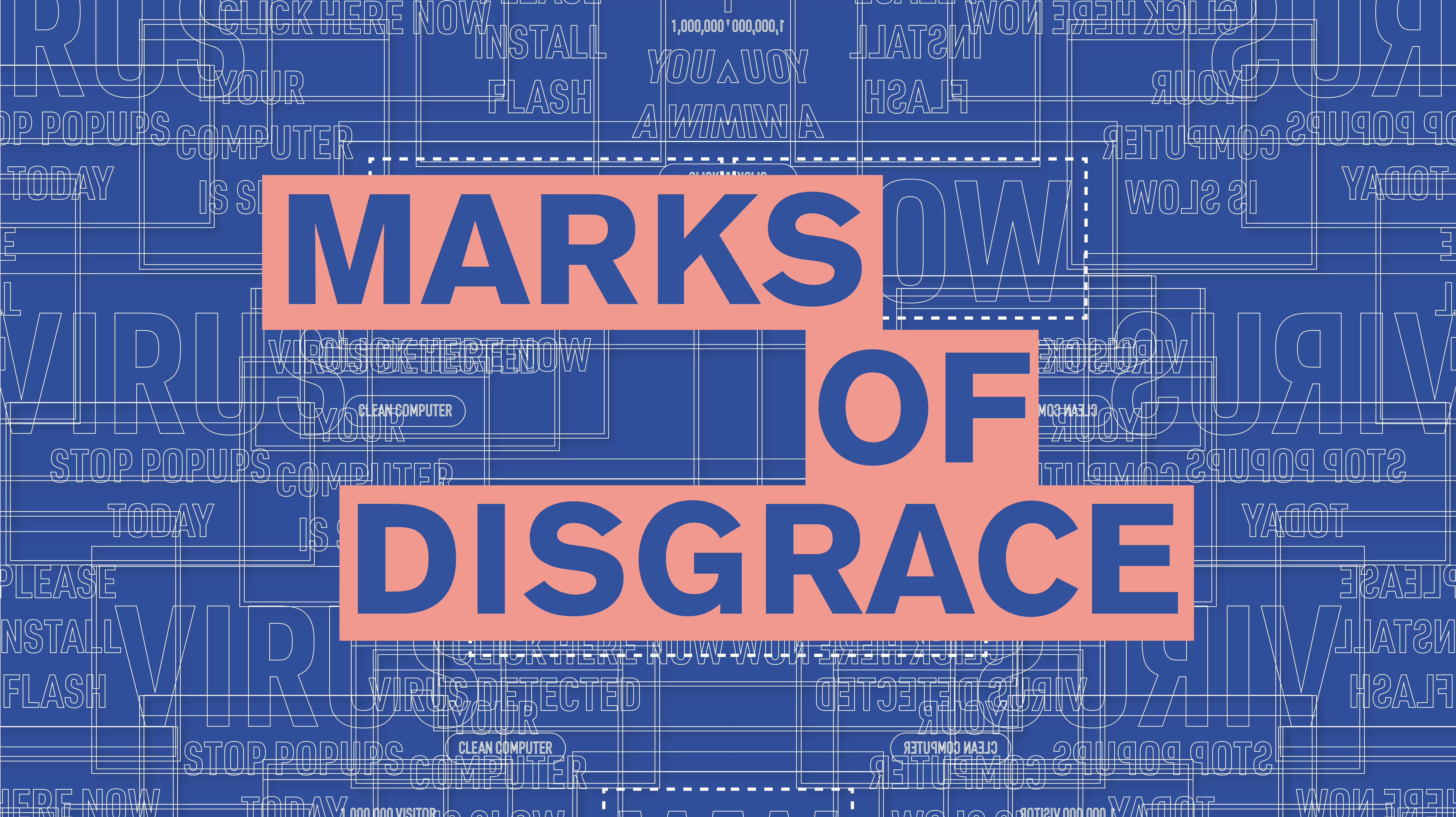 Behance Marks Of Disgrace Bfa Capstone S