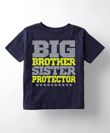 Navy Big Brother Sister Protector Tee Toddler Girls Big Brother Little Sister Big Brother Baby Boy Outfits