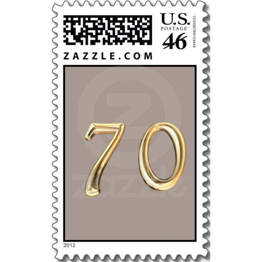 happy 70th birthday seventieth seventy 70 postage stamps postage