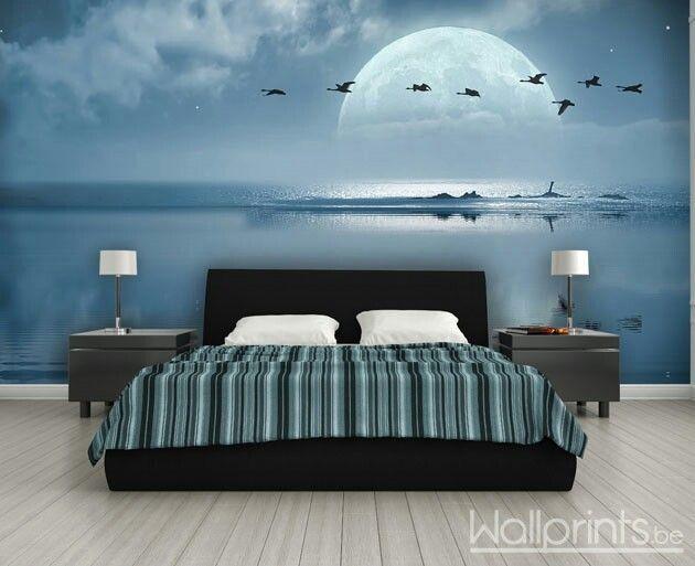 Muurschilderingen Voor Slaapkamer : Fotobehang slaapkamer fotobehang fotobehang