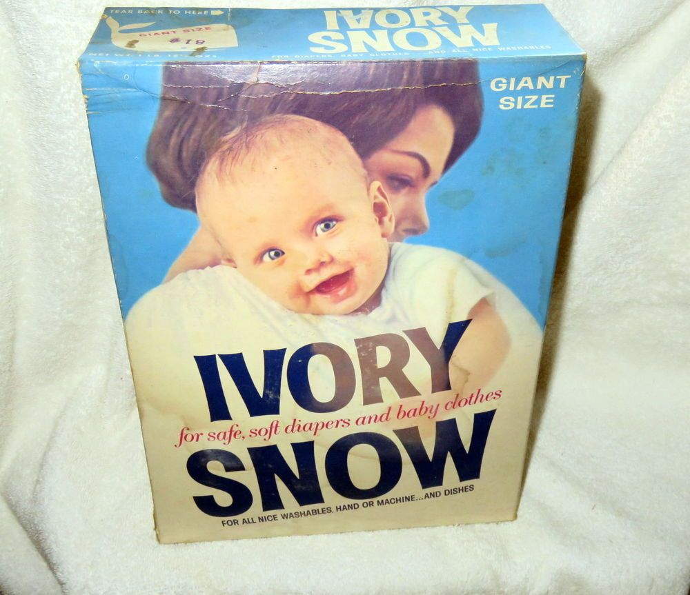 Ivory Snow Laundry Detergent Full Unopened Giant 2 Lbs Size Box