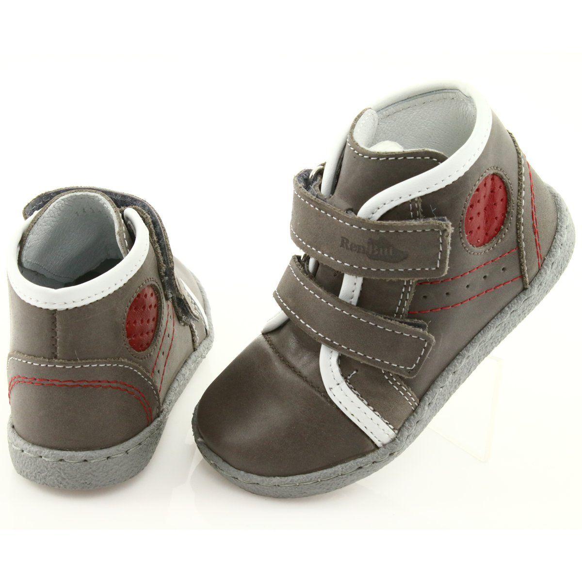 Trzewiki Chlopiece Ren But 1423 Szare Czerwone Boys Shoes Kid Shoes Childrens Shoes