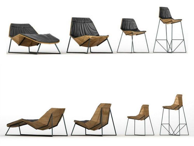 Fauteuils Design Aen Aluminium Et Bois Chaise Longue Relx