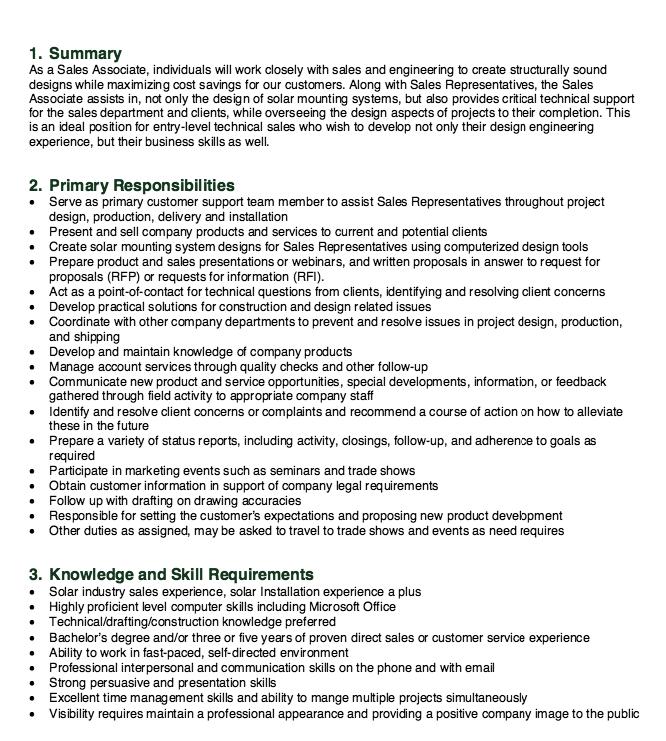 Sales Associate Job Description Resume Httpresumesdesign