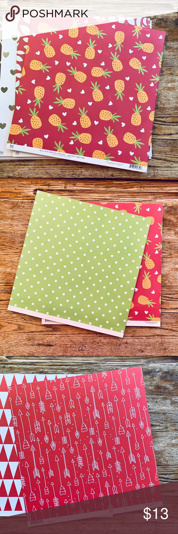 47 Loose Stock Paper 12 X12 Double Sided Sheets Paper Stock All Paper Cupids Arrow