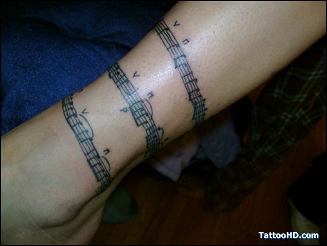 """Tatuajes Partituras Musicales sheet music tattoo  want this  the music being from """"defying"""