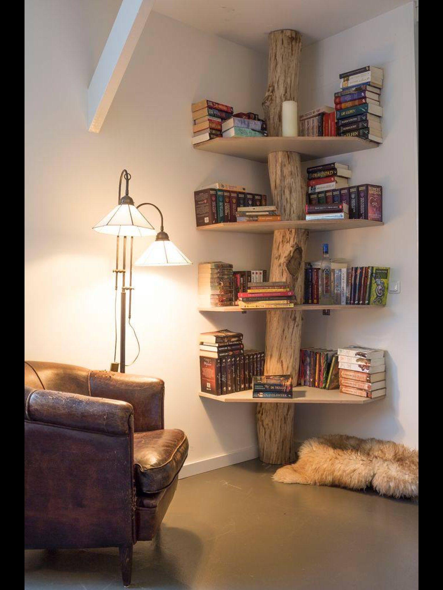 Esto me encantó adornos pinterest tree book shelves book