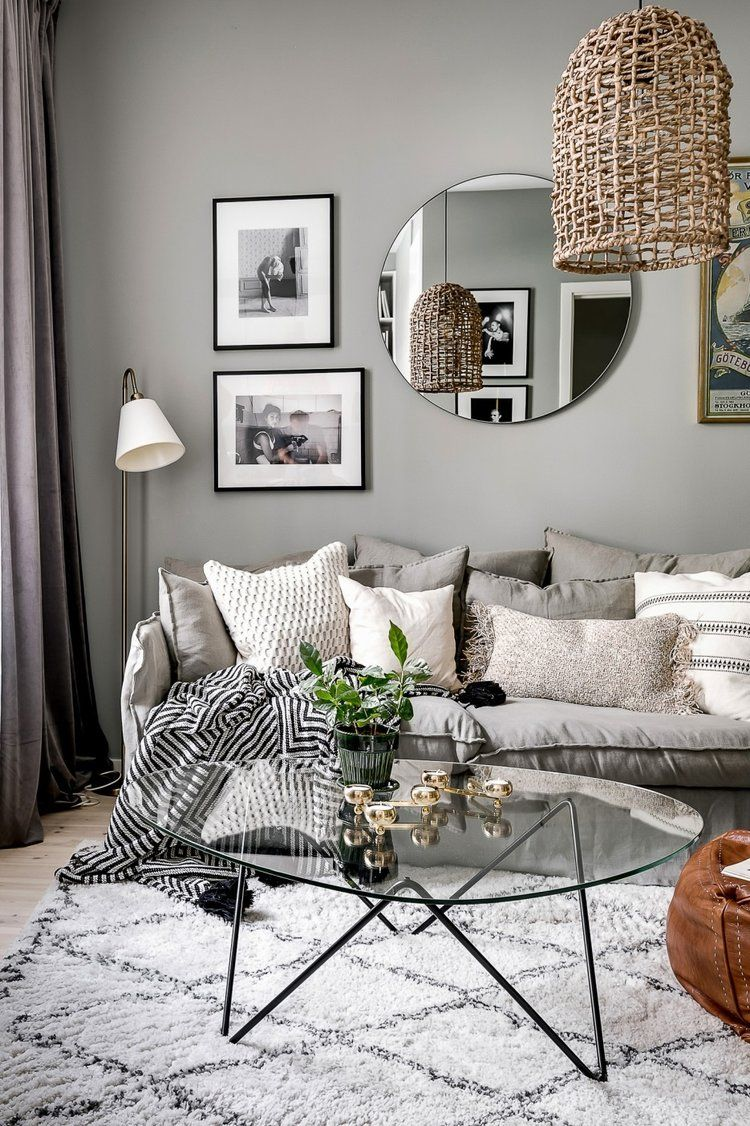 A Small Grey And White Scandinavian Apartment The Nordroom Living Room Scandinavian Minimalist Living Room Living Room Grey