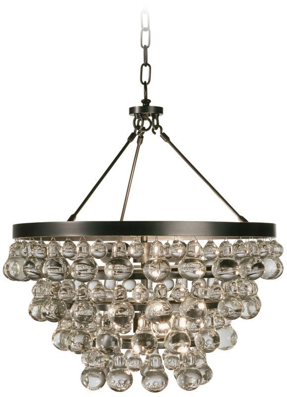 Bling Convertible Bronze Crystal Robert Abbey Chandelier - #EUN3552 - Euro Style Lighting