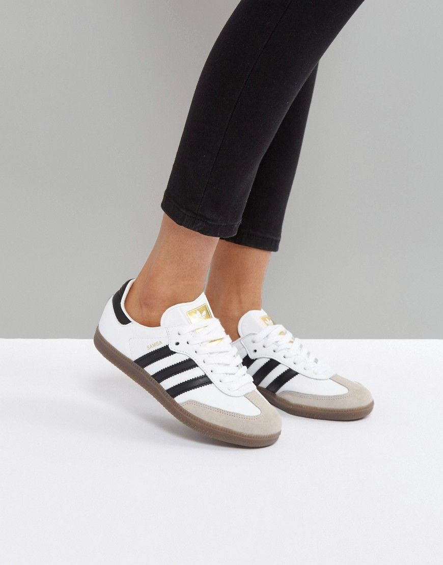 reputable site 21b9f 12f5c ADIDAS ORIGINALS ADIDAS ORIGINALS SAMBA LEATHER SNEAKERS - WHITE.  adidasoriginals shoes