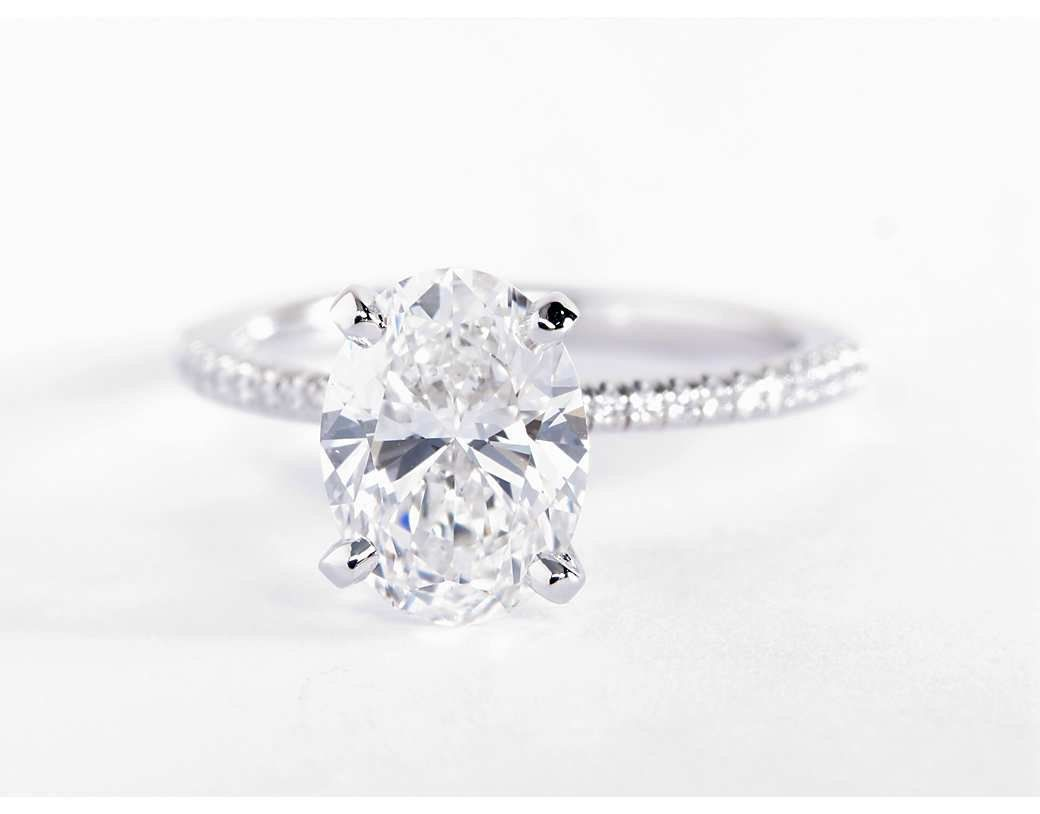 Petite Micropave Diamond Engagement Ring In Platinum 1 10 Ct Tw Sapphire Diamond Engagement Platinum Wedding Rings