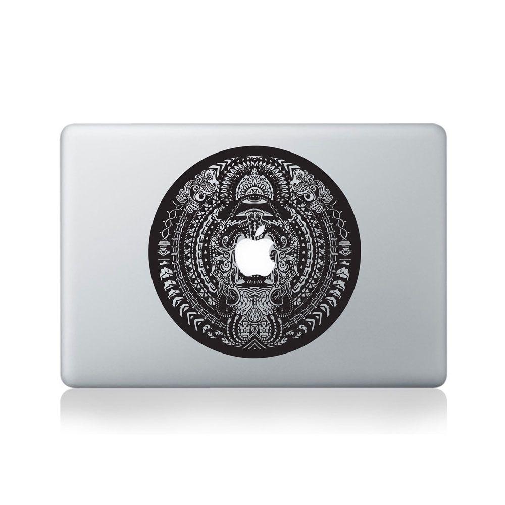 Alien Mandala Vinyl Sticker for Macbook (13/15), Laptop or Guitar #Art #Sticker #Decal #Vinyl