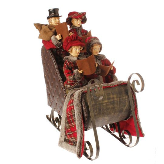 "3300815 - 21"" CAROLERS IN SLEIGH"