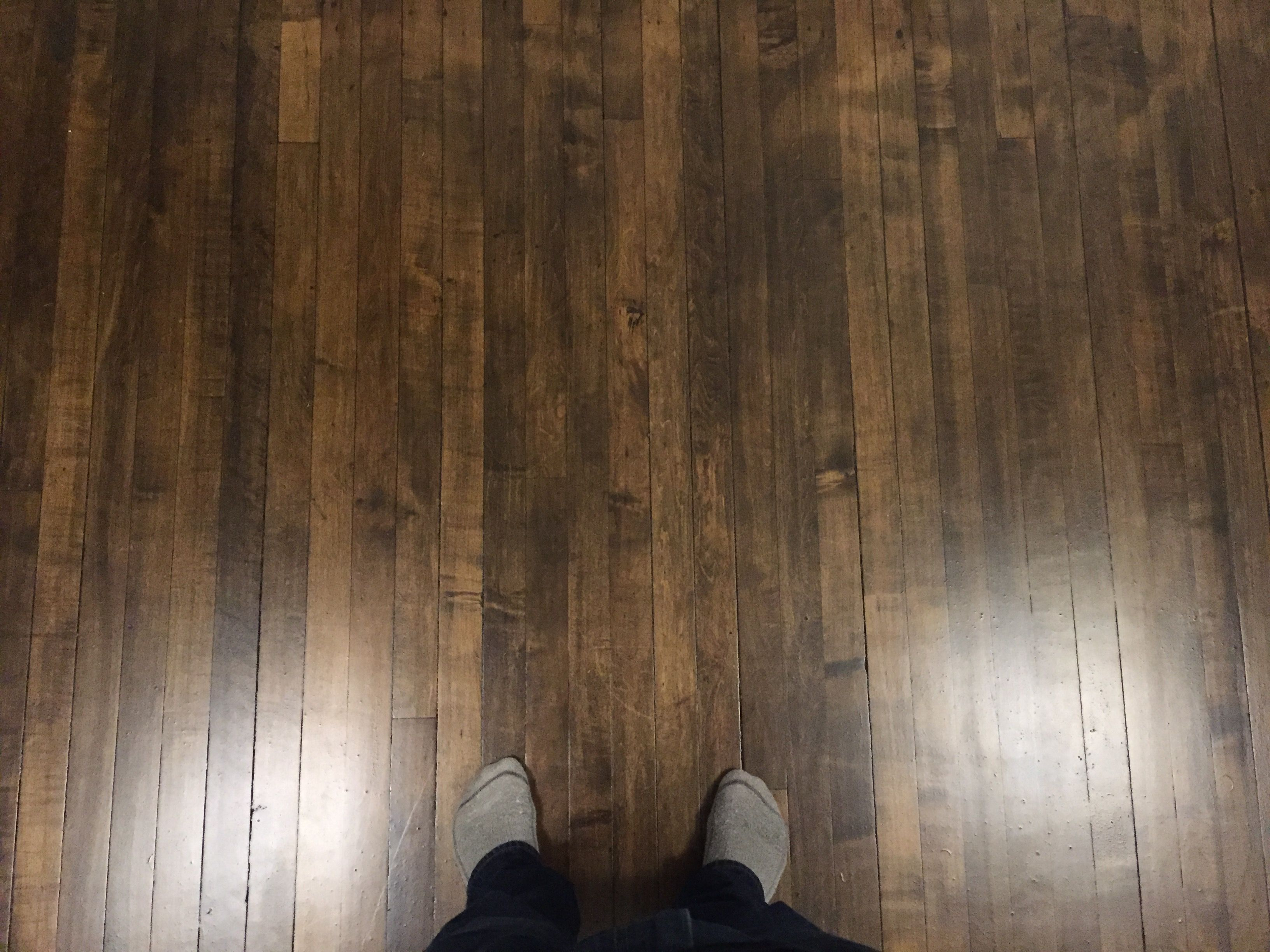 How I Stained My Maple Floors Dark Spoiler Gel Stain Maple Wood Flooring Maple Floors Maple Hardwood Floors
