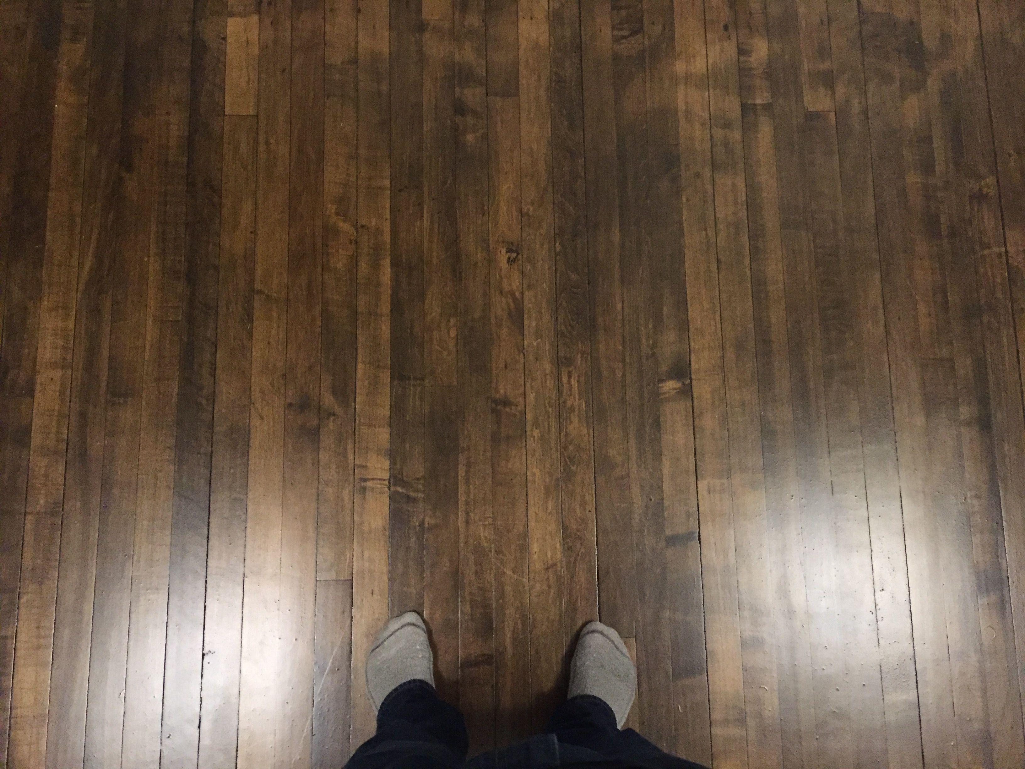 How I stained my maple floors dark. (SPOILER: GEL STAIN ...
