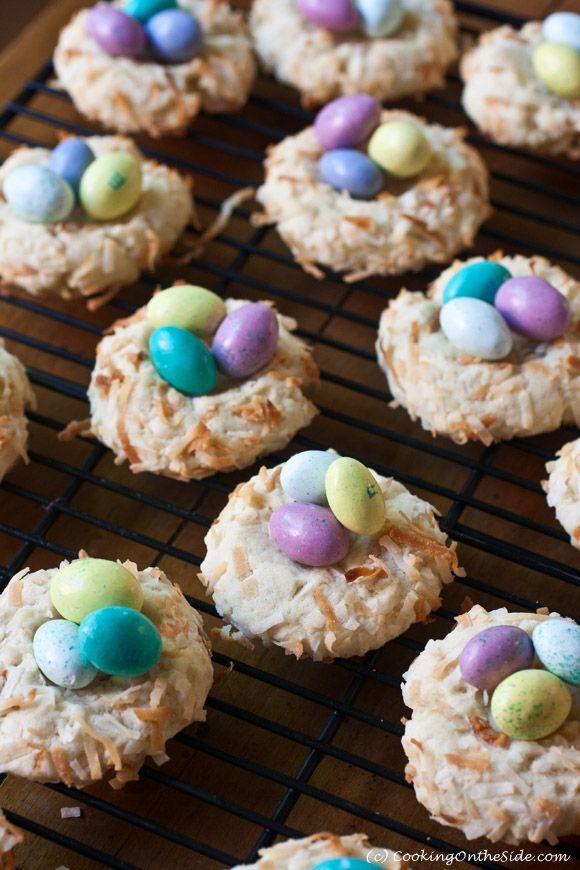 Easter Bird's Nest Cookies | cookingontheside.com