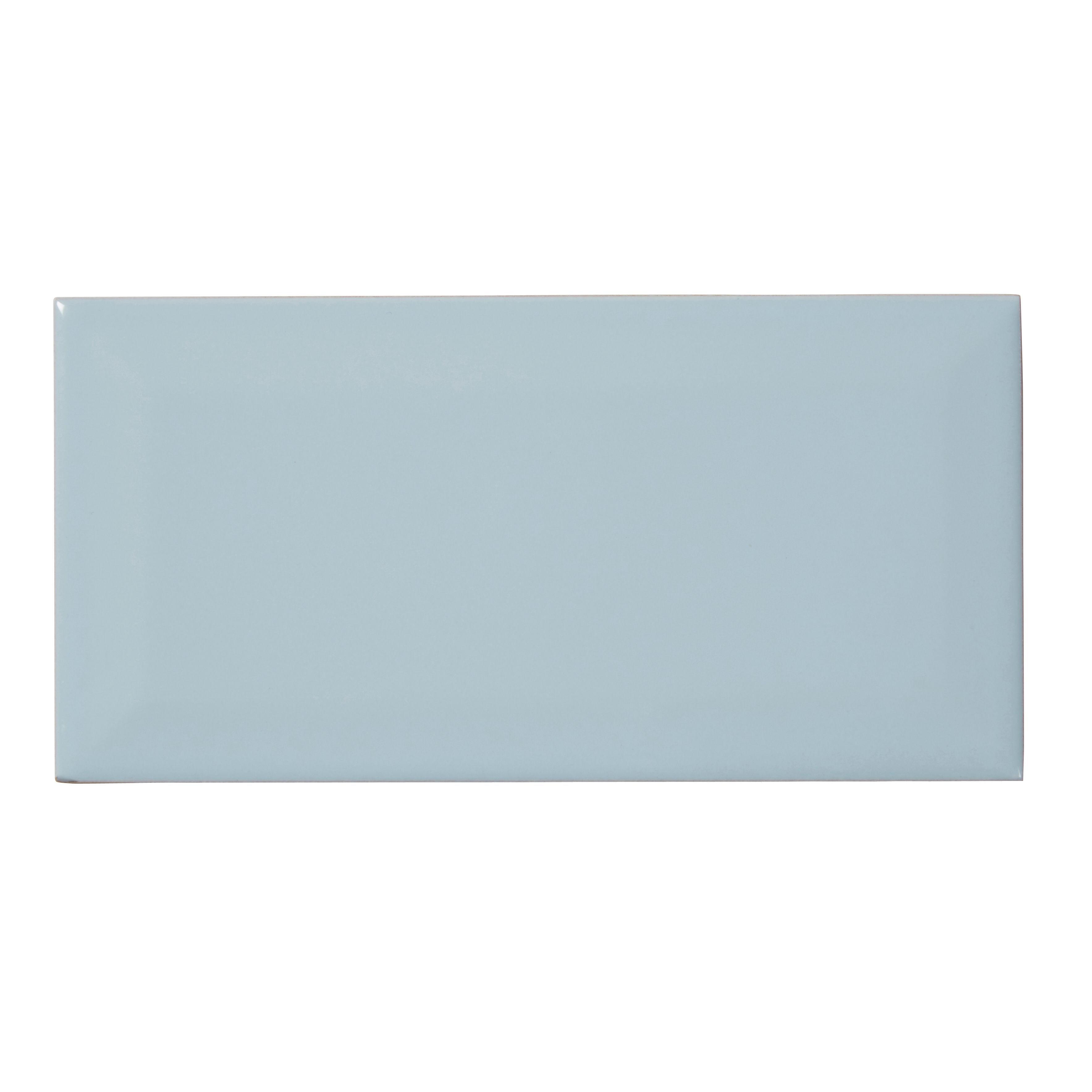 trentie blue gloss ceramic wall tile pack of 40 l 200mm w 100mm