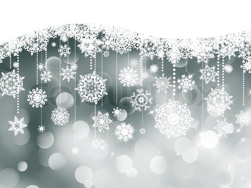 Stock-Vektor von 'Weihnachten Hintergrund mit Schneeflocken'