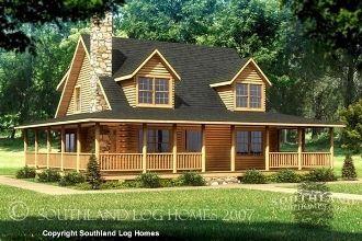 Stupendous Wrap Around Porch Floor Plans Log Home Floor Plans Southland Largest Home Design Picture Inspirations Pitcheantrous