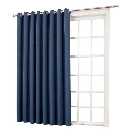 100 X84 Seymour Extra Wide Patio Door Room Darkening Curtain Panels Sun Zero With Images Patio Door Curtains Room Darkening Patio Panel